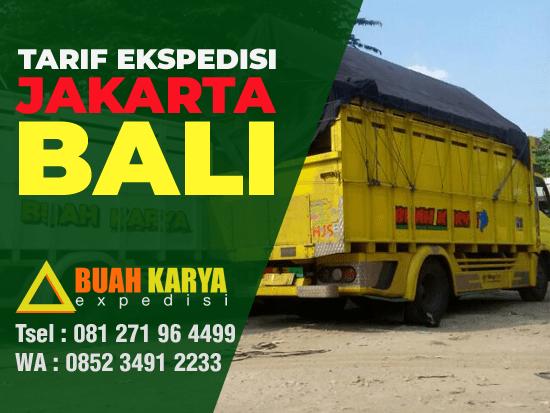 Tarif Ekspedisi Jakarta Bali