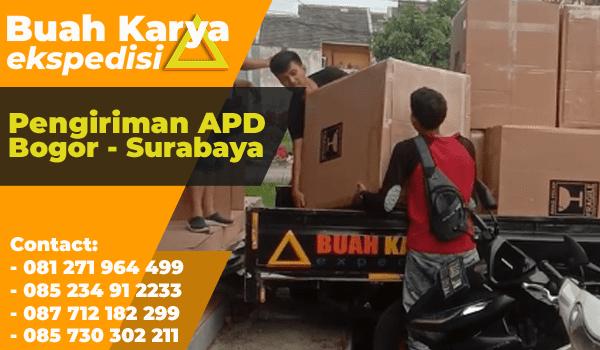 Pengiriman APD Bogor Surabaya